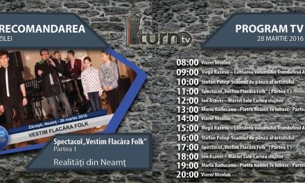 Program TV 28 martie 2016 si Recomandarea zilei
