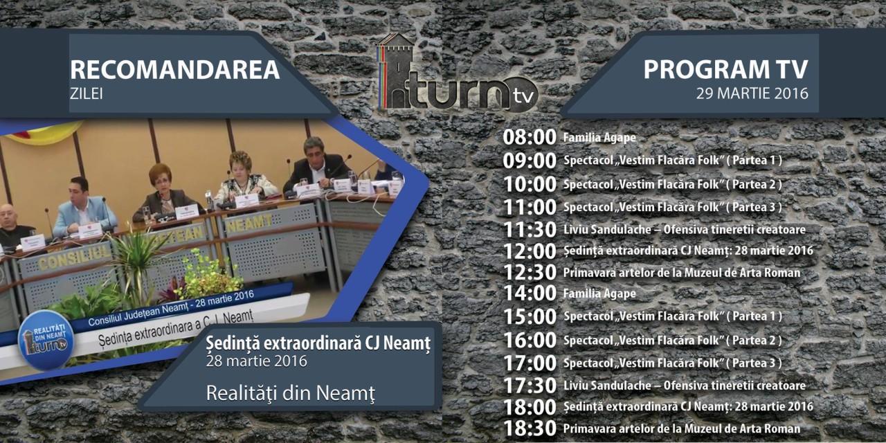 Program TV 29 martie 2016 si Recomandarea zilei
