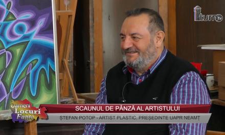 Stefan Potop-Scaunul de pânză al artistului