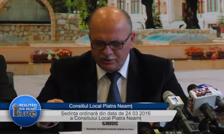 Sedinta ordinara 24 martie 2016 Consiliul Local Piatra Neamt