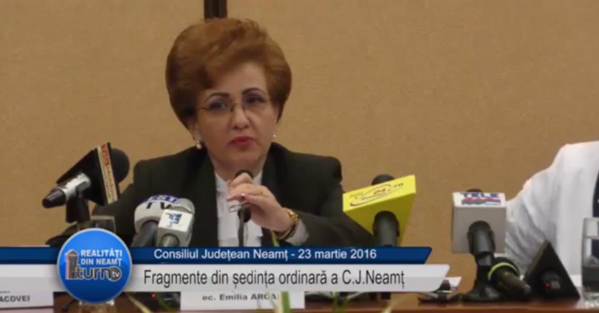 Fragmente din sedinta CJ Neamt : 23 martie 2016