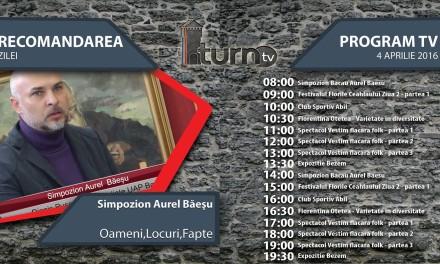 Program TV 4 aprilie 2016 si Recomandarea zilei