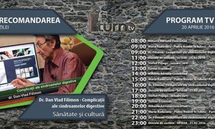 Program TV 20 aprilie 2016 si Recomandarea zilei