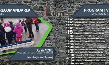Program TV 21 aprilie 2016 si Recomandarea zilei