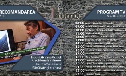 Program TV 27 aprilie 2016 si Recomandarea zilei