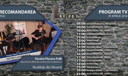 Program TV 29 aprilie 2016 si Recomandarea zilei