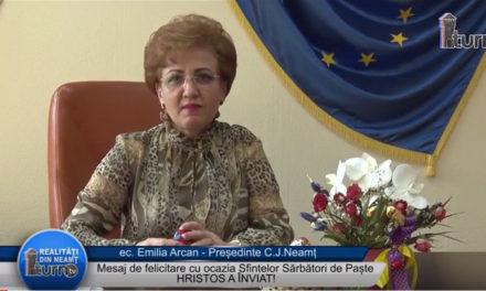 Mesaj de Paste Presedinte CJ Neamt Emilia Arcan