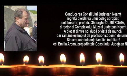 Mesaj de condoleanta C.J.Neamt