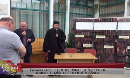 """Părintele Siluan Antoci – despre """"Flori duhovniceşti în pustiul comunist"""""""