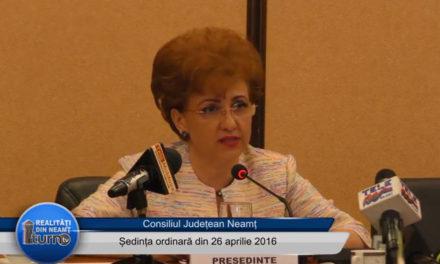 Sedința ordinara a CJ Neamț din 26 aprilie 2016