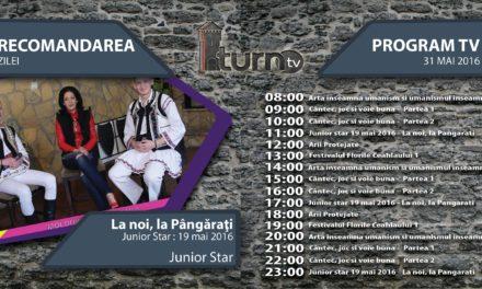 Program TV 31 mai 2016 si Recomandarea zilei