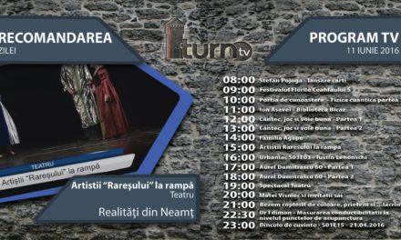 Program TV 11 iunie 2016 si Recomandarea zilei