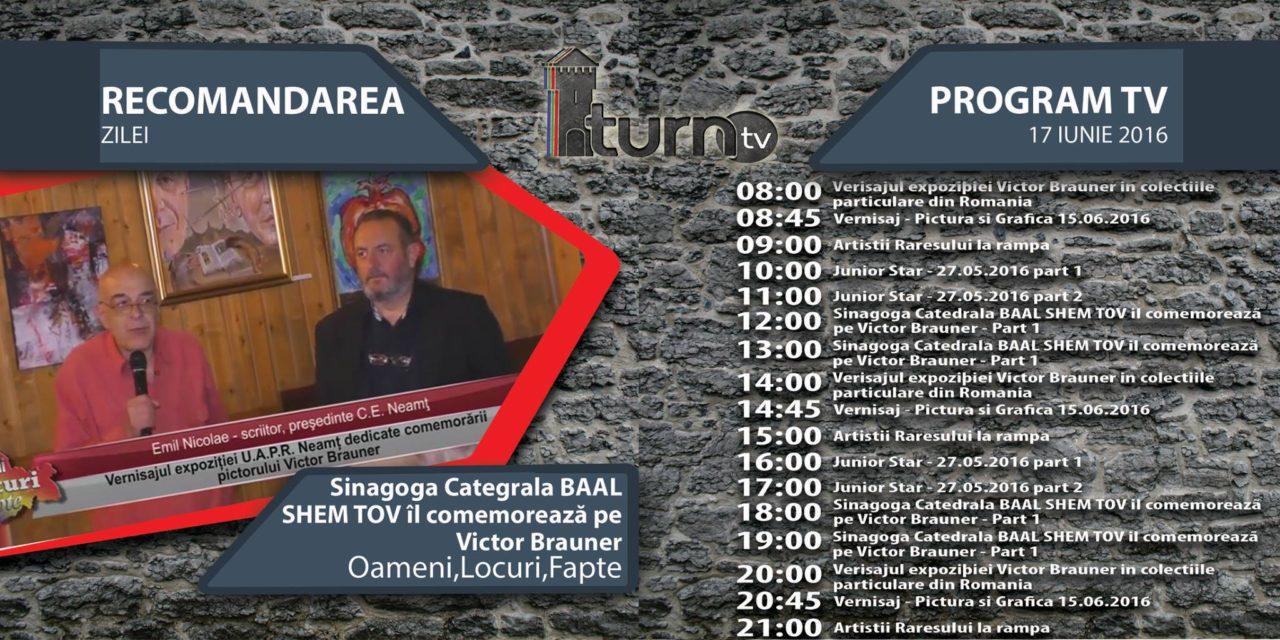 Program TV 17 iunie 2016 si Recomandarea zilei