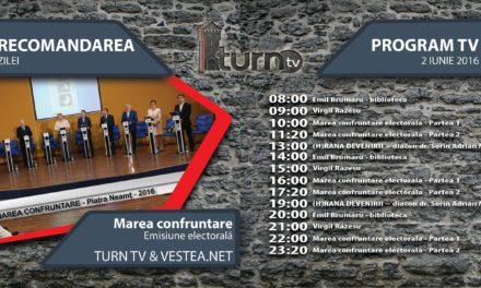 Program TV 2 iunie 2016 si Recomandarea zilei
