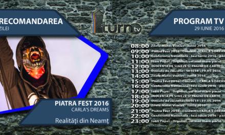Program TV 29 iunie 2016 si Recomandarea zilei