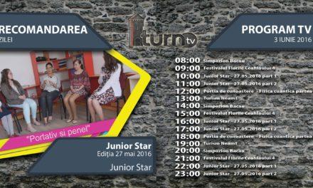 Program TV 3 iunie 2016 si Recomandarea zilei