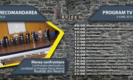 Program TV 4 iunie 2016 si Recomandarea zilei