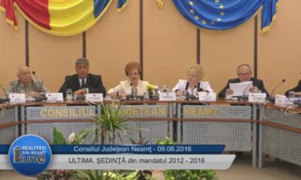 Ultima şedinţă din mandatul 2012 2016