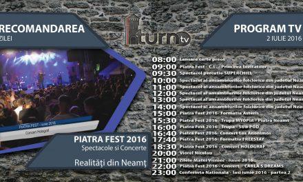 Program TV 2 iulie 2016 si Recomandarea zilei