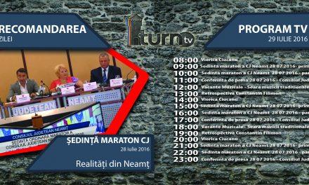 Program TV 29 iulie 2016 si Recomandarea zilei !