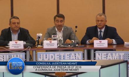 Conferinta de presa 28 07 2016 Consiliul Judetean Neamt