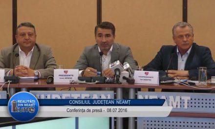 Conferinta de presă Consiliul Judetean 8 iulie 2016