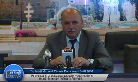 Conferinta de presa Primaria Piatra Neamt – 06 07 2016
