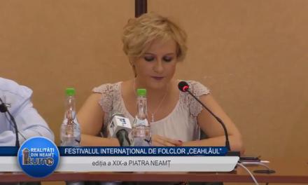 """FESTIVALUL INTERNAŢIONAL DE FOLCLOR """"CEAHLĂUL""""EDITIA a XIX a Deschiderea oficiala"""