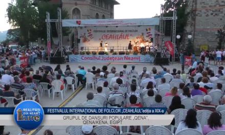 """FESTIVALUL INTERNAŢIONAL DE FOLCLOR """"CEAHLĂUL""""EDITIA a XIX a GRUPUL DE DANSURI POPULARE """"QENA"""", QENA/KENA, EGIPT"""