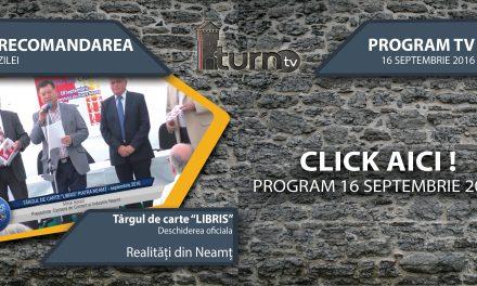Program TV 16 septembrie 2016 si Recomandarea zilei