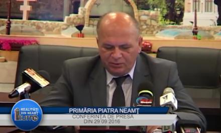 Conferinta de presa 29 09 2016 Primaria Piatra Neamt