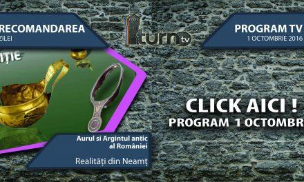 Program TV 1 octombrie 2016 si Recomandarea zilei