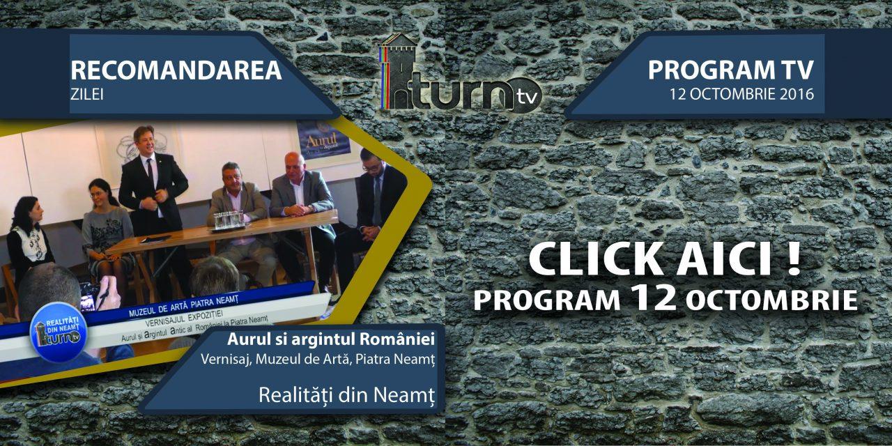 Program TV 12 octombrie 2016 si Recomandarea zilei !!