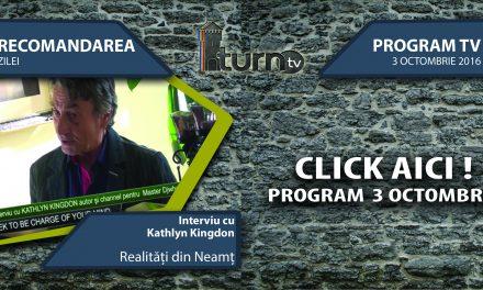 Program TV 3 octombrie 2016 si Recomandarea zilei