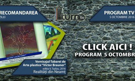 Program TV 5 octombrie 2016 si Recomandarea zilei