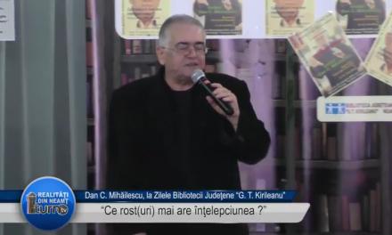 Dan C Mihailescu la Zilele Bibliotecii Judetene partea a doua