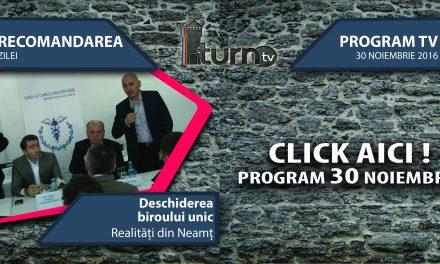 Program TV 30 noiembrie 2016 si Recomandarea zilei