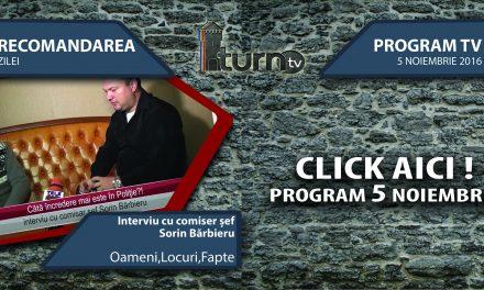Program TV 5 noiembrie 2016 si Recomandarea zilei