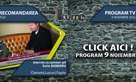 Program TV 9 noiembrie 2016 si Recomandarea zilei