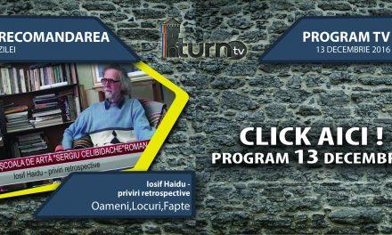 Program TV 13 decembrie 2016 si Recomandarea zilei