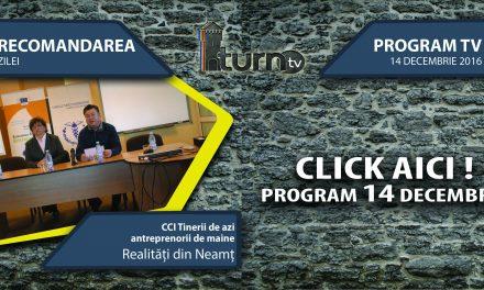 Program TV 14 decembrie 2016 si Recomandarea zilei