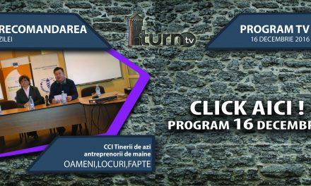 Program TV 16 decembrie 2016 si Recomandarea zilei