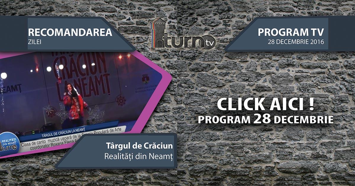 Program TV 28 decembrie 2016 si Recomandarea zilei