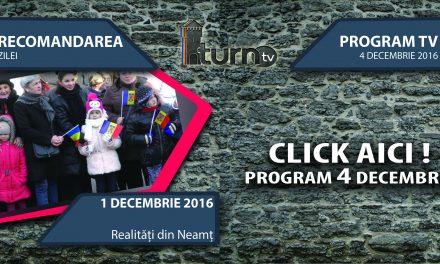 Program TV 4 decembrie 2016 si Recomandarea zilei