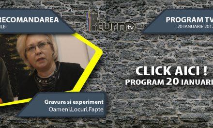 Program TV 20 ianuarie 2017 si Recomandarea zilei