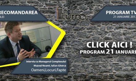 Program TV 21 ianuarie 2017 si Recomandarea zilei