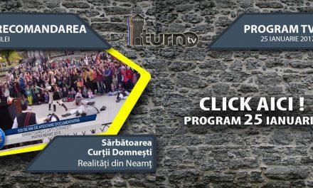 Program TV 25 ianuarie 2017 si Recomandarea zilei