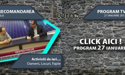 Program TV 27 ianuarie 2017 si Recomandarea zilei