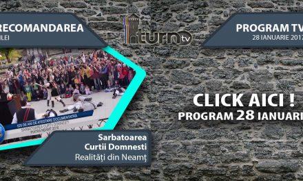 Program TV 28 ianuarie 2017 si Recomandarea zilei
