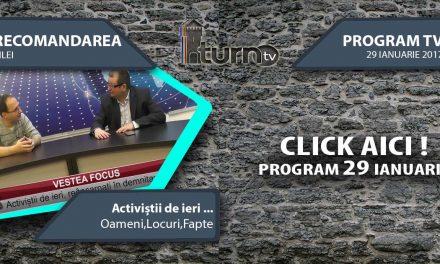 Program TV 29 ianuarie 2017 si Recomandarea zilei